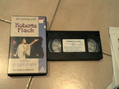 AN EVENING WITH ROBERTA FLACK LIVE * SOUL MUSIC VHS MOVIE TAPE VIDEO PAL