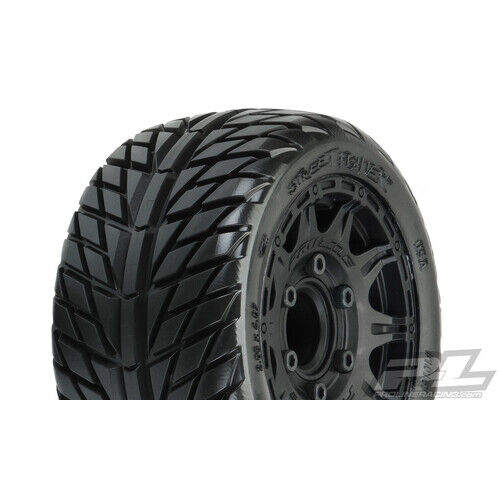 """STREET FIGHTER LP 2.8"""" STREET TIRES MOUNTED ON RAID BLACK WHEELS (2) FOR STAMPED"""