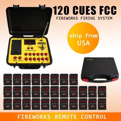 Free ship 120Cues fireworks firing system 500M Long distance