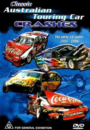 Classic Australian Touring Car Crashes Early V8 Years 1993 to 1996 - DVD