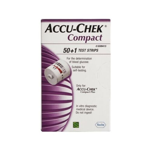 ACCU-CHEK Compact Strips For Measuring Blood Glucose Pack 50 +1
