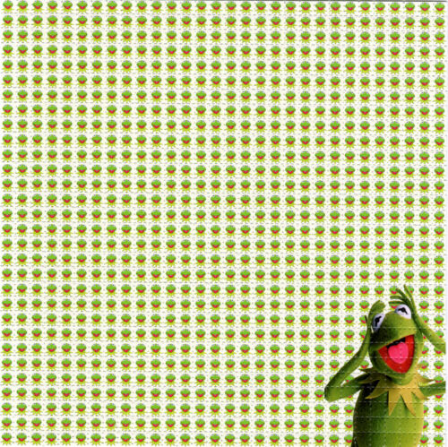KERMIT The Frog BLOTTER ART perforated paper sheet psychedelic art