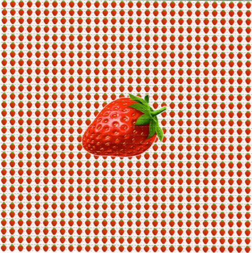 Single STRAWBERRIES BLOTTER ART perforated paper sheet psychedelic art