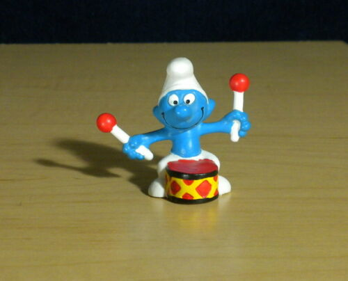 Smurfs 40233 Helicopter Smurf Pilot Flying Figure Rare Vintage PVC Toy Schleich