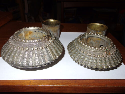 Madya Pradesh magnificent pair of ethnic old anklets, India, 20th century