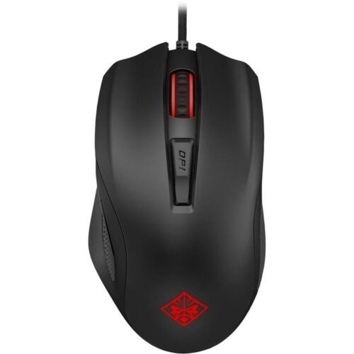 HP OMEN 600 FPS Wired USB Laser Gaming Mouse Adjustable Weights 1200 DPI Black