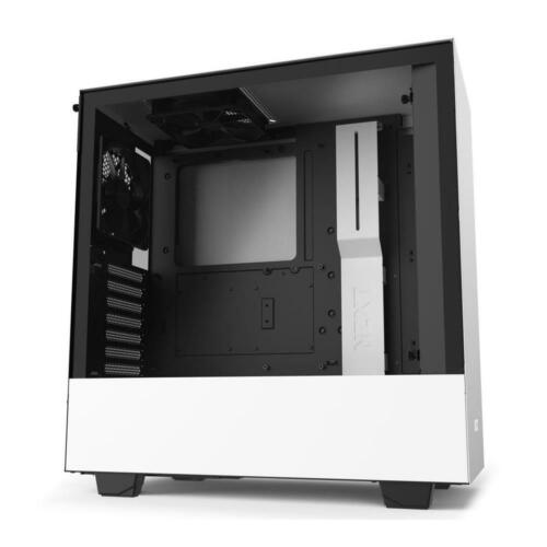 NZXT H510 Tempered Glass Mid-Tower ATX Gaming Desktop Computer PC Case White