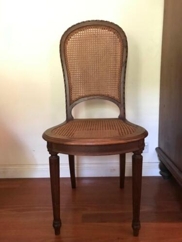 French Oak Antique caned dining chairs c.1900  price is per chair (x4)