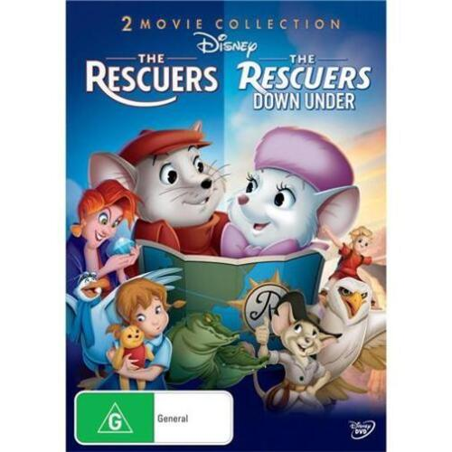 THE RESCUERS / RESCUERS DOWN UNDER : NEW DVD