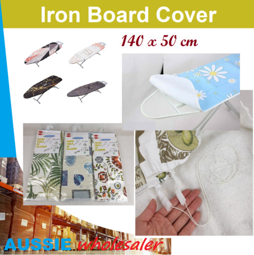 1x Ultra Thick Iron Board Cover Heat Retaining Felt Ironing Easy Fitted 130x46cm