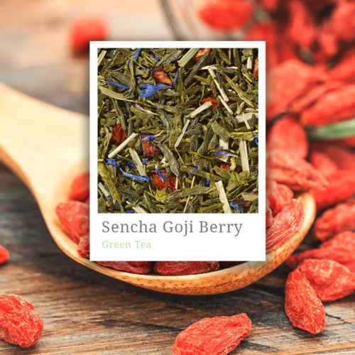 Green Tea Sencha Goji Berry- premium green tea leaves