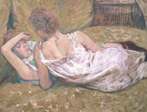 Toulouse-Lautrec Two Friends Fine Art Print on Canvas HQ Giclee Home Decor Small