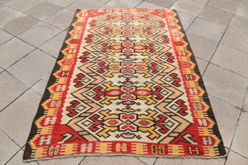 Wonderful Antique Rug Awesome Collectors Sharkoy Distressed Flat Woven Kilim Rug