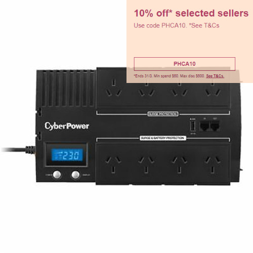 CyberPower BR850ELCD BRICs UPS 850VA 8 Outlet Surge Protect Power Supply Unit