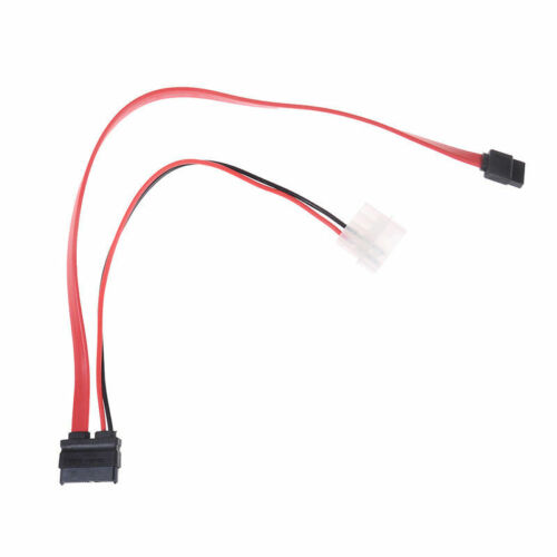 7+6 Pin slimline sata cable for slim laptop SATA DVD+/-RW Drive power cord
