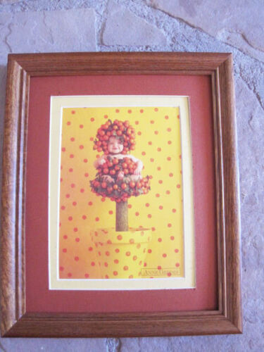 Anne Geddes Kumquat Tree wood frame double matted with glass 8 x 10