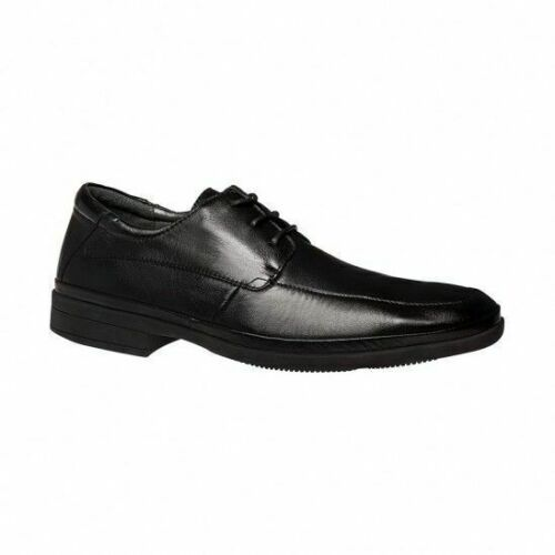 MENS HUSH PUPPIES TWIST MEN'S LEATHER WORK BLACK LACE UP FORMAL DRESS SHOES