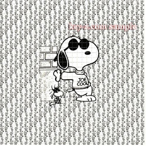 Snoopy Joe Cool Blotter Art perforated sheet paper trippy psychedelic art