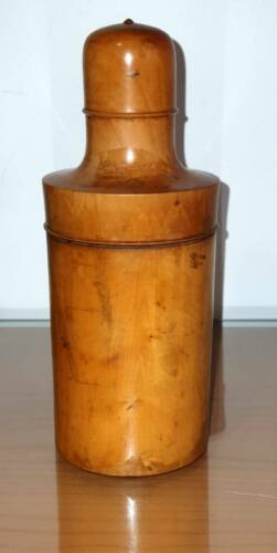 Antique Treen or Wooden Medicine or Aapothecary Bottle  C1890