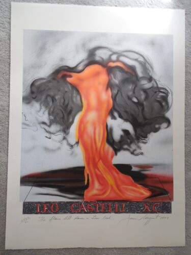 """James Rosenquist """"The Flame Still Dances on Leo's Book"""" Litho Signed & Numbered"""