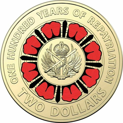 REPATRIATION CENTENARY ROYAL AUST MINT ROLL 25 Coins 2019 $2 BRING THEM HOME