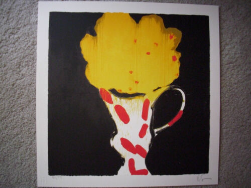 """Donald Sultan """"Matisse Flowers & Vase"""" Hand Signed & Numbered Serigraph !!!!!"""