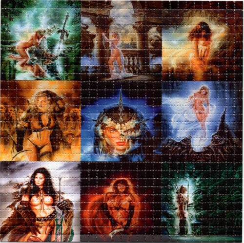 Fantasy Maidens BLOTTER ART perforated sheet paper psychedelic art