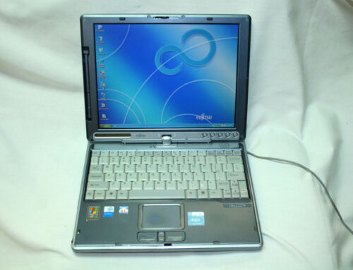 FUJITSU LIFEBOOK T Series T3000 Laptop 80GB HDD 256MB RAM & AC ADAPTER For Parts