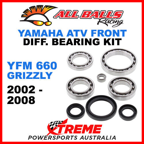 TWO REAR INDEPENDENT A-ARM KNUCKLE ONLY BUSHING SHAFT KIT GRIZZLY 660 2002-2008