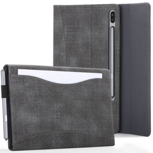 Samsung Galaxy Tab S6 10.5 Case, Cover, Stand with Document Pocket - Black