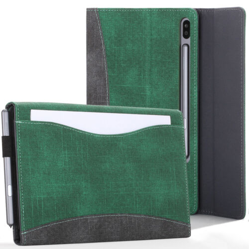 Samsung Galaxy Tab S6 10.5 Case Cover Stand & Document Pocket - Green + Stylus