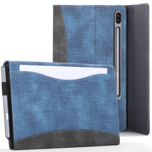 Samsung Galaxy Tab S6 10.5 Case, Cover, Stand with Document Pocket - Blue