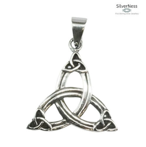 SilverNess Jewellery Celtic Triquetra Trinity Knot  Pendant: 925 Sterling Silver