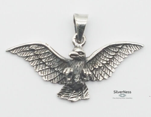 SilverNess Jewellery Eagle Pendant: 925 Sterling Silver