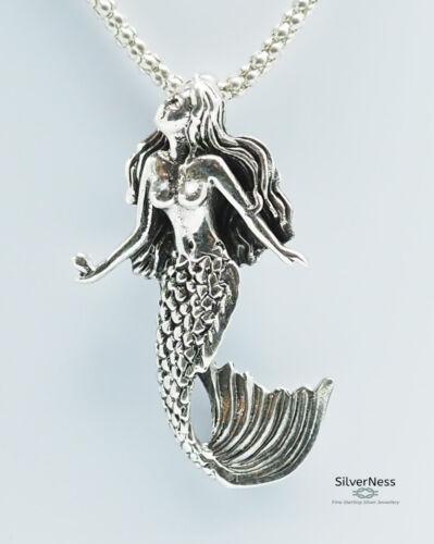 SilverNess Jewellery Mermaid Pendant: 925 Sterling Silver