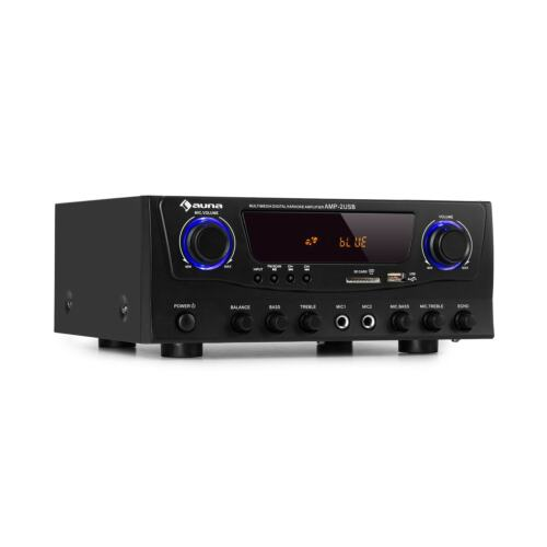 Amplificatore Stereo Audio Bluetooth Hi Fi 2x50W USB Radio FM Nero