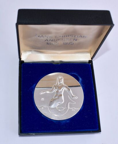 Boxed Georg Jensen Sterling Silver Medal HC Andersen - The Little Mermaid