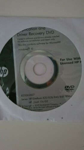 HP Application/Driver and OS Recovery DVD