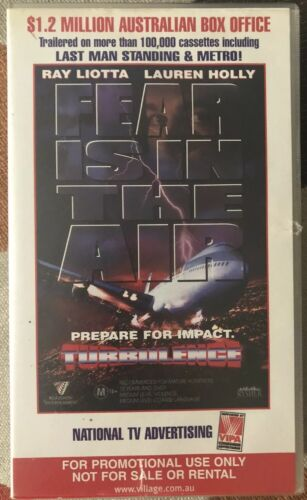 Turbulence + The Castle 1997 VHS Dbl Feature Rare Video Store PROMO COPY Preview