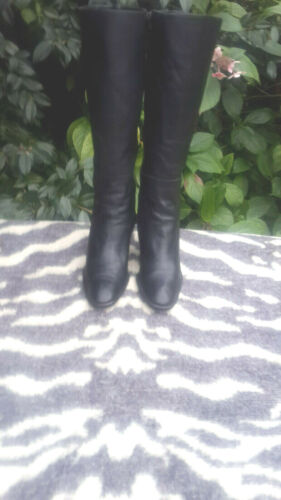 Aldo Castagna Black Leather Boots Made in Italy UK size 3.5 EU 36.5