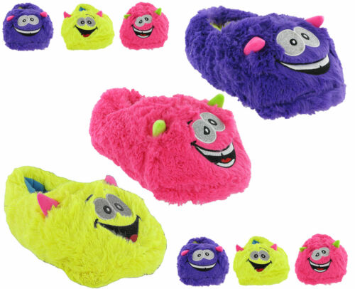 Novelty Slippers Fun Monster Cute Crazy Cosy Warm Fluffy Womens Girls