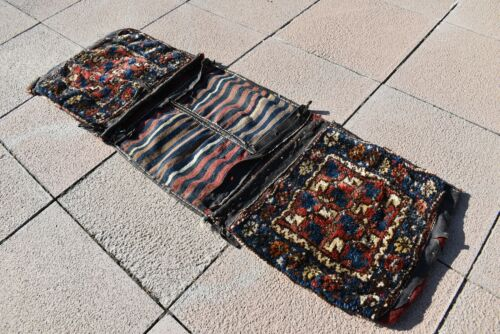 Fabulous Antique Awesome Collector's Piece Anatolian Completely Saddlebag Rug