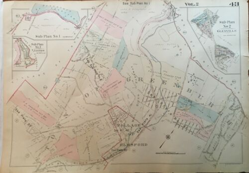 1930 GREENBURGH ELMSFORD WESTCHESTER COUNTY NY FAIRVIEW C.C. ATLAS MAP
