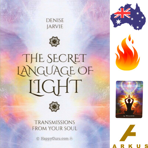 THE SECRET LANGUAGE OF LIGHT Oracle Cards - 45 Card Deck By Denise Jarvie NEW