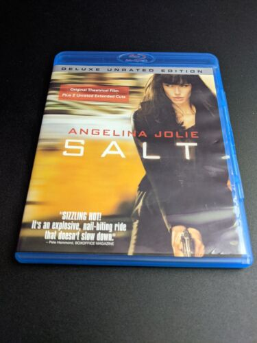 Salt Deluxe Unrated Edition Angelina Jolie Blu-ray DVD movie MINT condition