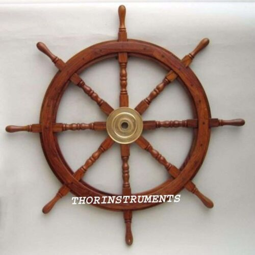 "Nautical Beautiful 36 "" Wooden Ship Wheel"