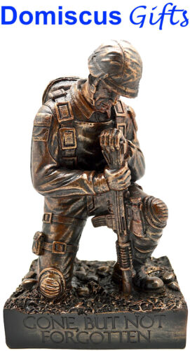 """8 1/4"""" New! AMERICAN FLAG Fallen Soldier Religious Military MEMORIAL FigurineOther Militaria - 135"""
