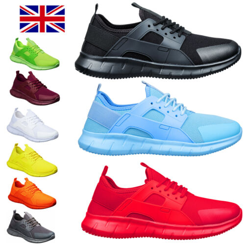 Mens Fitness Sport & Running Trainers Size 6 to 11 UK for CASUAL WORK & LEISURE  <br/> BREATHABLE & LIGHTWEIGHT MENS MESH TRAINERS