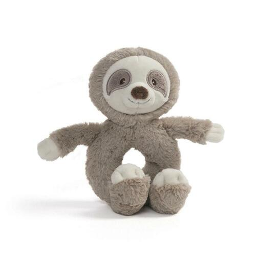 GUND Baby Toothpick Ring Rattle (Sloth) Free Shipping!