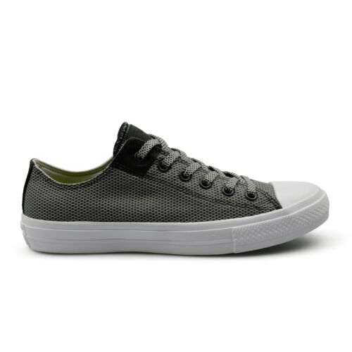 Converse CTAS Chuck Taylor All Star II Basketweave Fuse Grey Mens Trainers Sale
